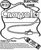 Lime Electric Coloring Crayola Pages sketch template