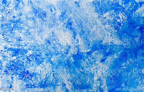 Hand Painted Blue Watercolor Abstract Background Stock