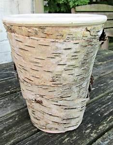 Craft, Invaders, -, Birch, Bark, Covered, Flowerpots