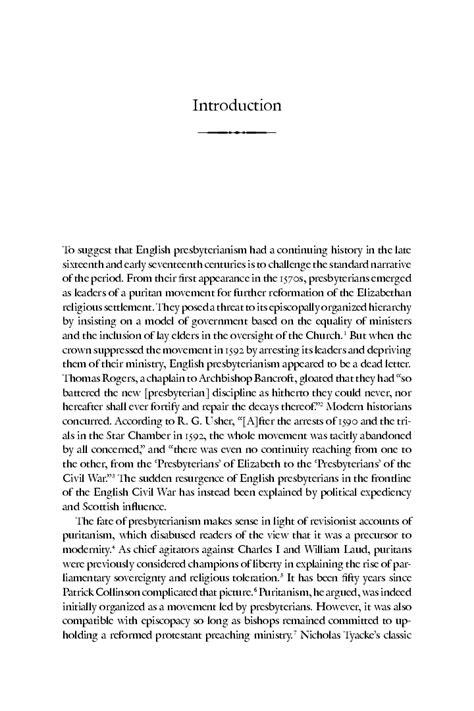 English Presbyterianism 1590 1640 Polly Ha