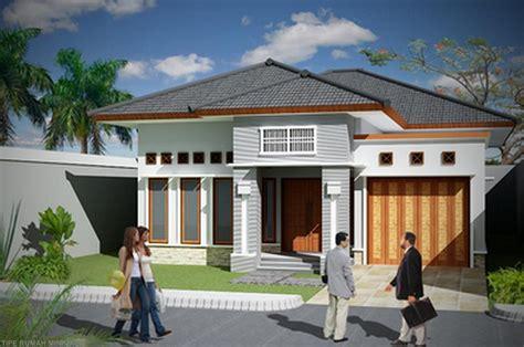 rumah minimalis  lantai  garasi desain rumah