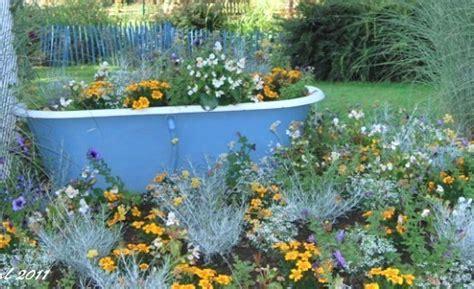 vieilles baignoires recycl 233 es pour le jardin