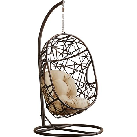 egg shaped swing chair bay isle home duncombe egg shaped outdoor swing chair with 7034