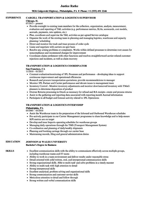 Logistics Resume by Sle Logistics Coordinator Resume Logistics Resume