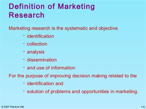 Explain Marketing by Chapter 1 Marketing Research Malhotra