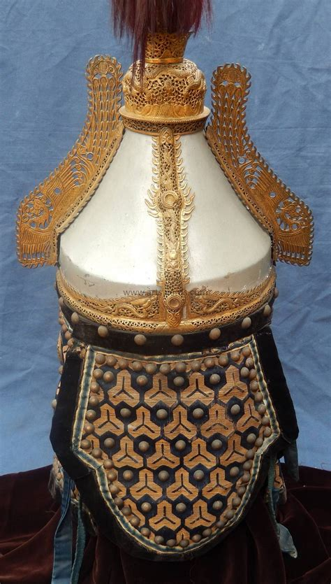 antique chinese qing dynasty imperial guards armor