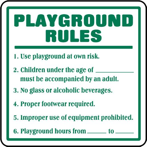 playground signs f6937 by safetysign 417 | F6937.20161030