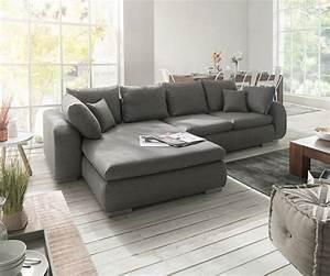 Grau Weißes Sofa : ecksofa maxie 330x178 cm grau mit schlaffunktion m bel sofas ecksofas ~ Indierocktalk.com Haus und Dekorationen