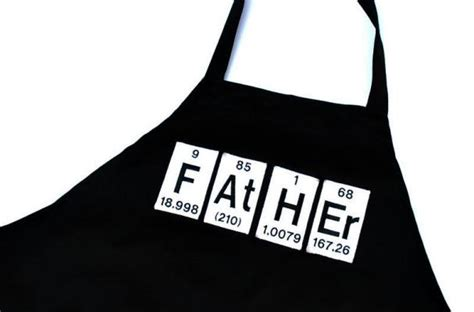 foodista father periodic table grill apron   perfect