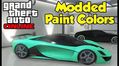 gta 5 crew colors gta quot modded paint colors quot tutorial how to