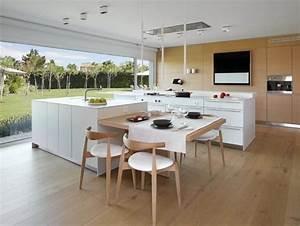 Coin Repas Cuisine : cuisine avec ilot central 15 id es de coin repas femme ~ Premium-room.com Idées de Décoration