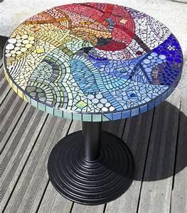 Table Mosaique Jardin : arc en ciel anouk mosaic mosa que d 39 art ~ Teatrodelosmanantiales.com Idées de Décoration