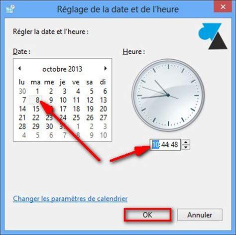 Modification De L Heure by Modifier La Date Et L Heure D Un Ordinateur Windows