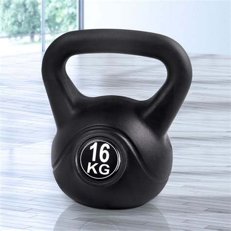 16kg kettle kettlebell fitness bell weight kit exercise everfit kettlebells bargainplus gym health