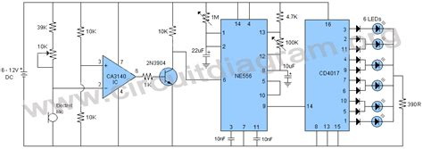 led light chaser circuit diagram sound activated knight rider led chaser circuit diagram