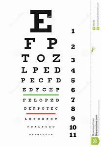 Eye Chart Vector Stock Vector Illustration Of Focus