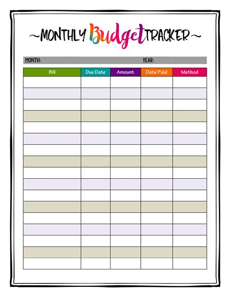 budget calendar how to organize bills bright budget tracker makes keeping a budget easy and