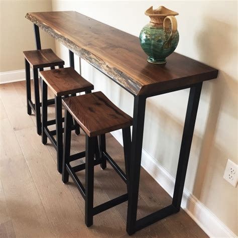 high end kitchen cabinets walnut live edge bar table solid hardwood furniture