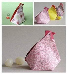 Poule Pour Paques : une poule en origami pour p ques instants papiers ~ Zukunftsfamilie.com Idées de Décoration