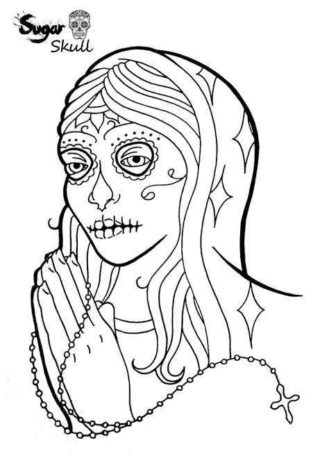 Sugar Skull Girl Coloring Pages - GetColoringPages.com