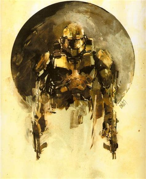 Halo Concept Sketches And Art Chief Halo Master Chief