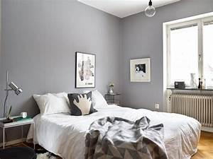 la chambre grise 40 idees pour la deco archzinefr With idee de couleur de peinture pour chambre adulte