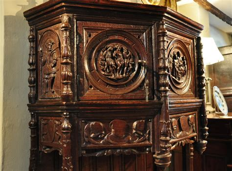 Credence Cupboard by A Early 16th Century Carved Oak Credence Cupboard Of