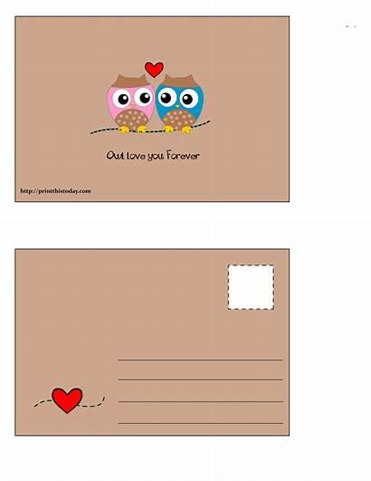 Postcard Postcards Forever Printable Owl Birds Printthistoday