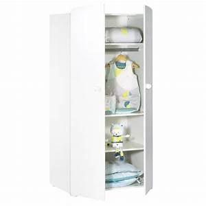 Armoire De Bébé : armoire chambre b b 2 portes boutons boule blanc de baby ~ Melissatoandfro.com Idées de Décoration