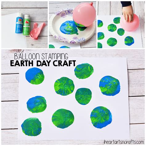 Balloon Stamping Earth Day Craft For Kids  I Heart Arts N