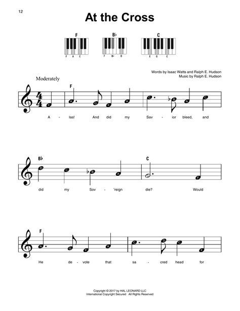 Commissioned by the mother abbess to serve as the governess for seven motherless children, maria transforms the von trapp family home from a place of. At The Cross Sheet Music   Ralph E. Hudson   Super Easy Piano