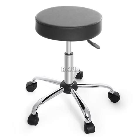 1x synthetic leather adjustable wheels bar stool bar