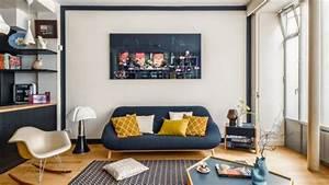 Décoration Appartement Moderne : style deco salon appartement ~ Nature-et-papiers.com Idées de Décoration