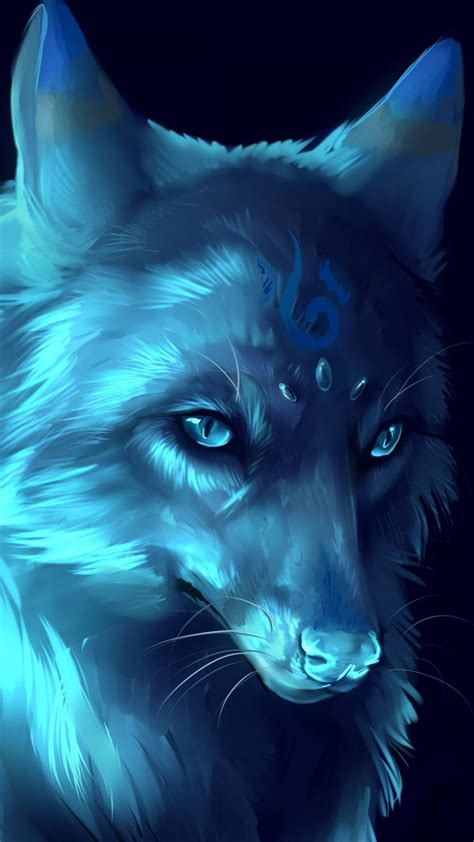 Anime Wallpaper Wolf by Blue Anime Wolf Wallpapers Top Free Blue Anime Wolf