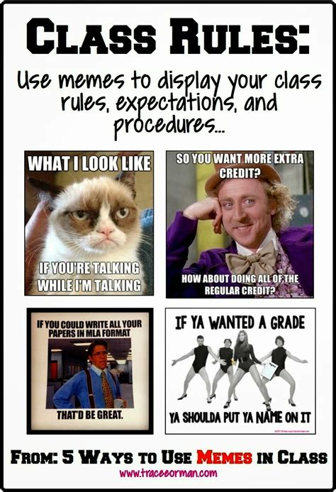 Classroom Rules Memes - reading education 534