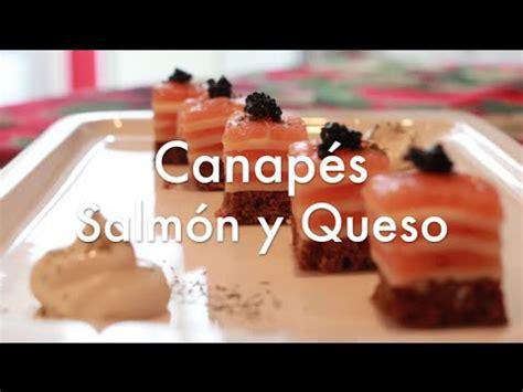 canapes frios de salmon  queso faciles  rapidos