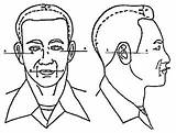 Cadets Sideburns sketch template