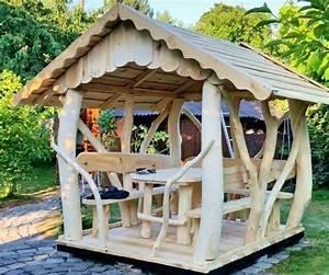 Möbel Aus Baumstämmen : blockhaus gartenhaus gartengarnitur pavillon aus massivholz und baumst mmen wohnen mit holz ~ Frokenaadalensverden.com Haus und Dekorationen