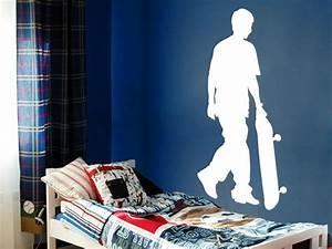 Cooles Jugendzimmer Für Jungs : cooles wandtattoo skater mit skateboard von ~ Bigdaddyawards.com Haus und Dekorationen