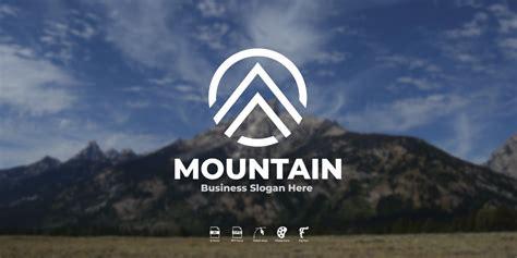 Mountain Logo Template by ICoxed | Mountain logos ...