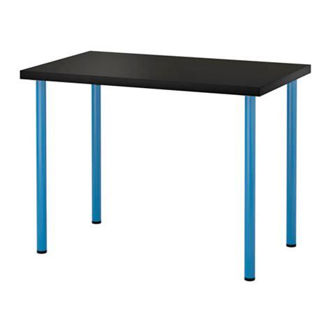 ikea desk legs australia linnmon adils table black brown blue ikea