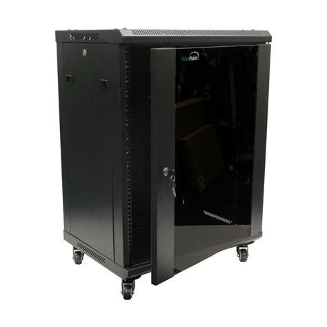 glass door server cabinet 15u wall mount network server cabinet rack enclosure glass