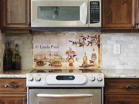 kitchen tile murals tile backsplashes olives tile mural backsplash of olive garden landscape 9604