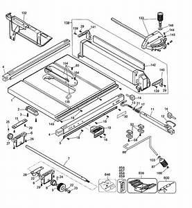 Dewalt Model Dw744 Type 2 Table Saw Genuine Parts