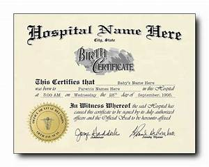 blank birth certificate template sample for new born baby With hospital birth certificate template