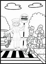 Road Coloring Getcolorings Printable Sheets Safety sketch template