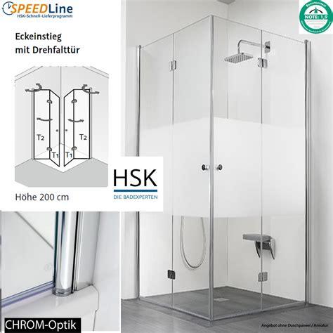pendeltür dusche 90 cm hsk dusche aus glas eckeinstieg 90x90x200 cm drehfaltt 252 ren impulsbad