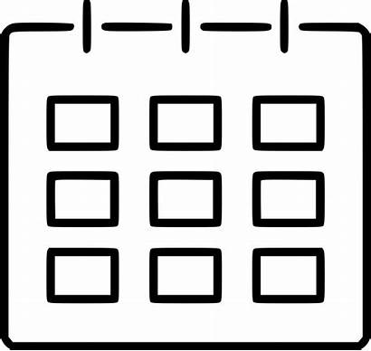 Table Chart Icon Schedule Calendar Svg Planning