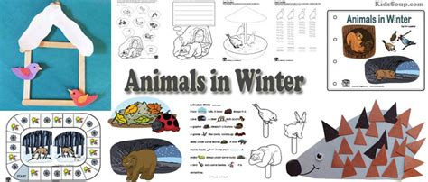 animals in winter preschool activities lessons and