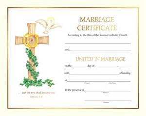 Spiritual Marriage Certificate